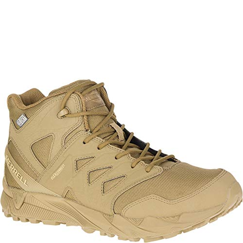 Merrell Unisex Work Agility Peak Mid Tactical Waterproof Shoes, Coyote, 12