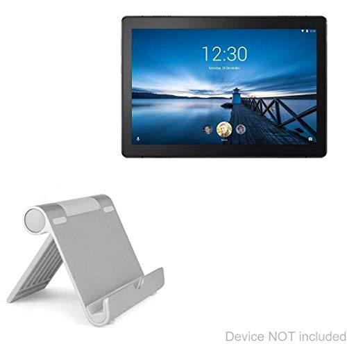 Lenovo Tab M10 Stand and Mount, BoxWave [VersaView Aluminum Stand] Portable, Multi Angle Viewing Stand for Lenovo Tab M10