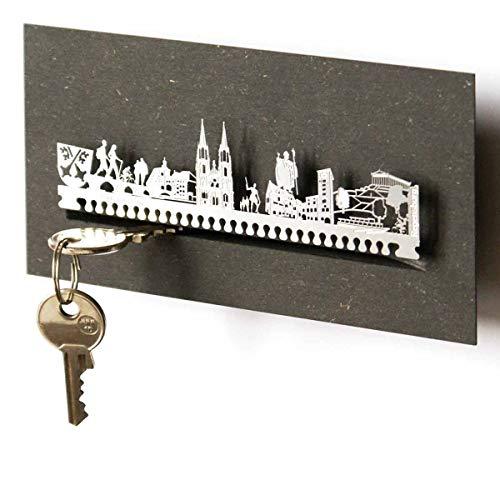 13gramm Regensburg-Skyline Schlüsselbrett Souvenir in der Geschenk-Box