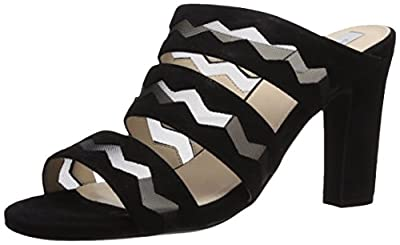 Cole Haan Women's Emilia HIGH Sandal Slide, Black Suede, 8.5 B US