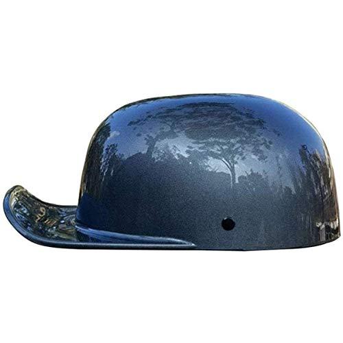 qwert Casco de motocicleta, gorra de béisbol de personalidad, con certificación DOT, retro, medio casco para hombre, mujer, para Cruiser Moped Scooter Skull Hat (54-62cm)
