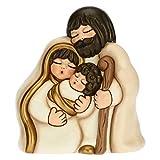 THUN - Soprammobile Sacra Famiglia - Decorazioni Natale Casa - Formato Medio - Ceramica - 14,5 x 9,5 x 16 h cm
