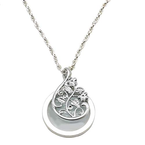ZT-TTHG Collar Colgante de Diamantes Lupa for Leer la Cadena...
