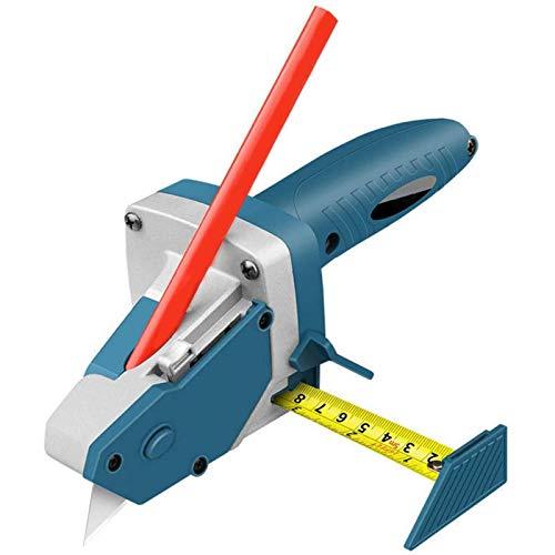 Pzpgeq Herramienta de corte de tablero de yeso, herramienta de mano Allinone con cinta métrica y cortador multifunción, utilizada para bricolaje, yeso, tablero de espuma, tablero KT, cartón