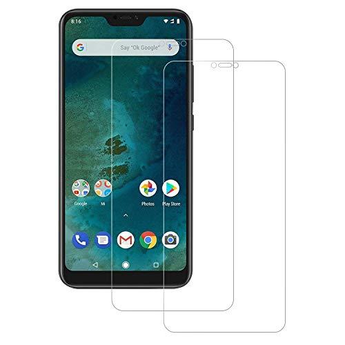 Senisttech Panzerglas Schutzfolie für Xiaomi Mi A2 Lite - [2 Stück] 9H Festigkeit Bildschirmschutzfolie, 99prozent Transparenz, 3D Touch Kompatibel, Anti-Fingerabdruck Panzerglasfolie für Mi A2 Lite