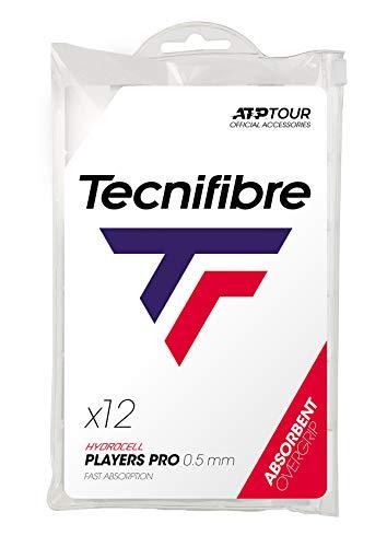 Tecnifibre - Grip para Raqueta de Tenis (Pack de 12 Grips), Color Blanco