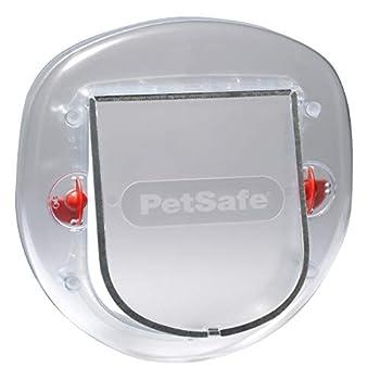 PetSafe - Chatière pour Chat et Petit Chien Staywell - Porte pour Animaux Résistante avec Tunnel d'Extension (inclus) - Blanc