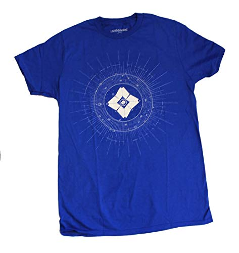 Loot Crate Destiny Ghost Adult Blue T-Shirt Exclusive - Small