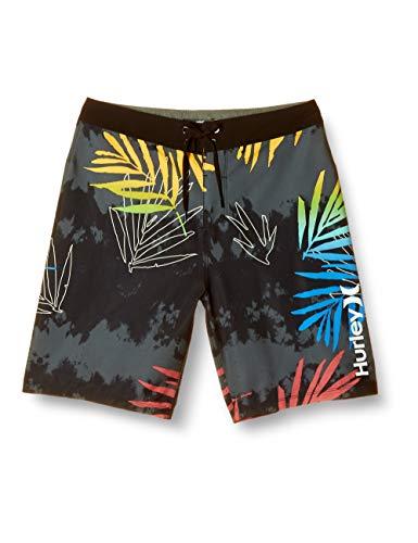 "Hurley Men's Palmdale 20"" Inch Swim Short Boardshort, Black, 33"
