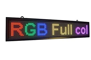 WiFi LED sign FULL color sign 40  x 8  with high resolution P10 and new SMD technology HIGH BRIGHTNESS ,Perfect solution for advertising