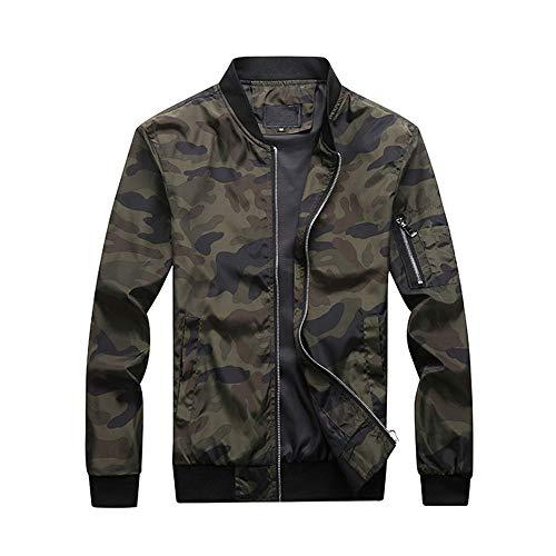 Ccsluo Herren Camouflage Jacken, Herren Mäntel Camo Bomberjacke, Herren Bekleidung Outwear Plus Size,4XL