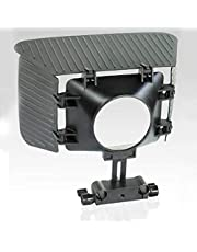 CAMTREE FLYFILMS Matte Box Sunshade Lens Hood Top and Side Flags for Video DSLR (43-77mm Lens, 15mm Rail Rod Shoulder Support Focus Rig)