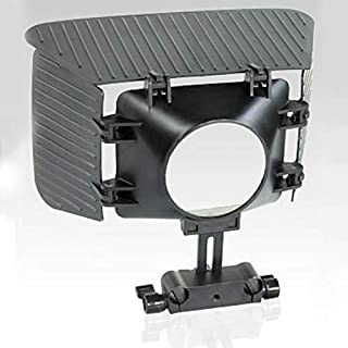CAMTREE FLYFILMS Matte Box Sunshade Lens Hood Top and Side Flags for Video DSLR (43-77mm Lens, 15mm Rail Rod Shoulder Supp...