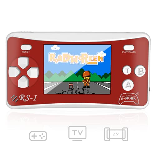 E-WOR Portable Handheld Games for Kids 2.5' LCD Screen Game Console TV Output Arcade Gaming Player System Built in 162 Classic Retro Video Games Birthday for Your Boys Girls (1PCS Red)