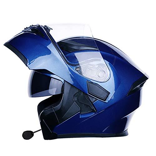 システムヘルメット ブルートゥース付き フリップアップヘルメット ヘルメット バイクヘルメット フルフェイス 春 秋 冬 PSC付き AN-12[商品17/XXL]