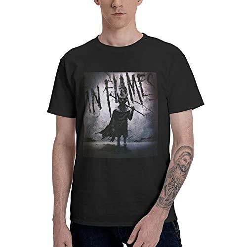 I-N FL-Ames Band I, The Mask Herren Klassisch Atmungsaktive Crew T Shirts Kurzarm T-Shirts Jungs Casual Bluse Schwarz