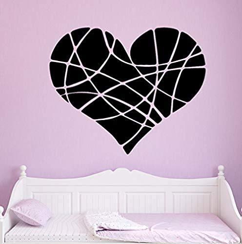 Cracked Heart Wandaufkleber Vinyl wasserdicht Wandkunst Aufkleber Home Decoration Wandbild Aufkleber Wallpaper Wandbild abnehmbar 58CmX47Cm