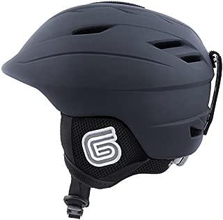 Grayne MTN Ski and Snowboard Helmet Grey w/Audio Ready Liner