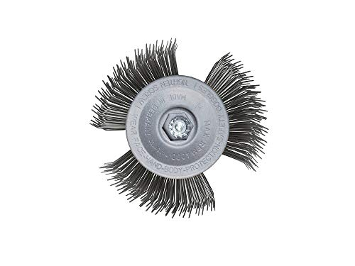 Scheibenbürste Metall | Für alle Bohrmaschinen geeignet | Alternative zum Rostumwandler | Schleifaufsatz für Metall, Rost & Lack