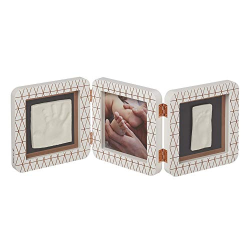 Baby Art 3601092800 MY BABY TOUCH Copper White - Cadre 3 volets Empreinte Bébé