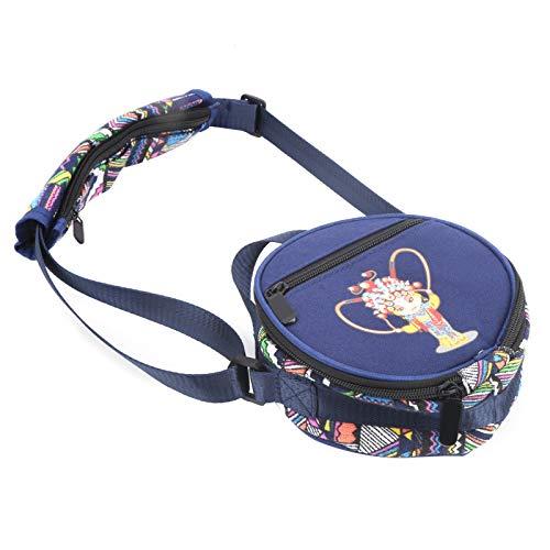 Bolsa de acero para tambor de 5.5 pulgadas, moderna bolsa de acero para tambores de lengüeta Bolsa de tambor impermeable Bolsa de tambor con costura de punto de cruz para bolsa de batería