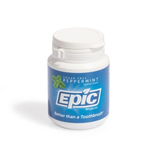 Xylitol Sweetened Peppermint Gum 50 Ct