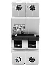 DC-stroomonderbreker, C65H-DC 2P 250V DC-miniatuurstroomonderbreker met laag voltage voor zonnepanelen Rastersysteem Din-railmontage onderbreker DC-stroomversterker