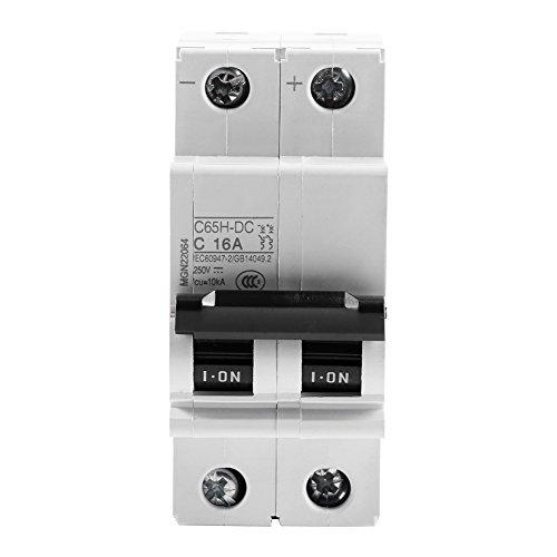 Interruptor solar 16A / 32A / 63A de la energía del disyuntor de circuito del aire miniatura de baja tensión de 250V DC 2P(16A)