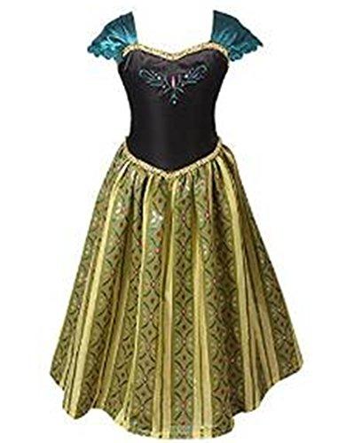 ELSA & ANNA® Princesa Disfraz Traje Parte Las Niñas Vestido (Girls Princess Fancy Dress) ES-FBA-ANNA1 (4-5 Años, ES-ANNA1)