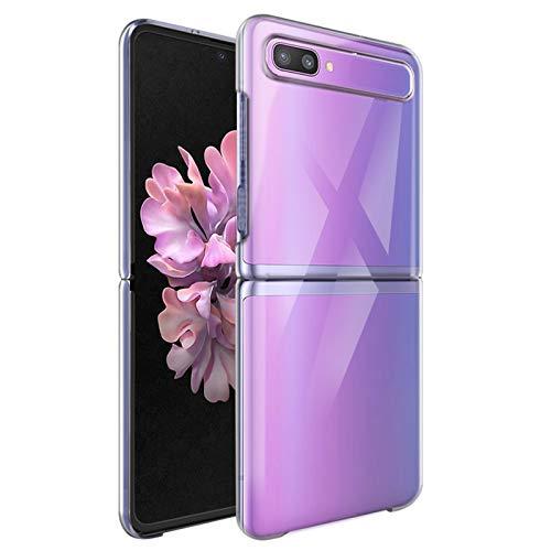 NEWZEROL Hülle für Samsung Galaxy Z Flip 5G 2020 [Slim-Fit] [Anti-Scratch] [Stoßdämpfung] Schutzhülle PC-Handyhülle für Samsung Galaxy Z Flip 1 5G-Transparent
