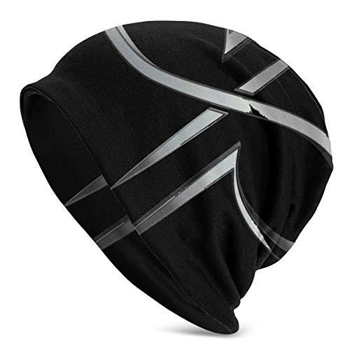 Yuanmeiju Sombrero cálido y Suave para Hombres Adultos Gorro de Jersey Devin Townsend Project Gorro de Punto de Moda para Hombres y Mujeres Negro