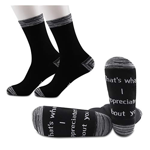 JXGZSO2Pairs Letterkenny Inspired Gift Squirrelly Dan Quote That's What I Appreciates About You Socks (I appreciates about you)