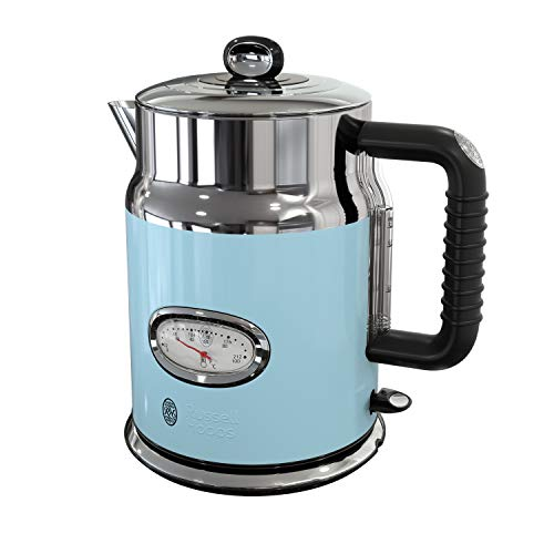 Remington Russell Hobbs KE5550BLR Retro Style 1.7L Electric Kettle, Heavenly Blue