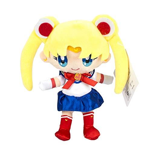 Apehuyuan Anime Sailor Moon Plush Figure Doll Toy 7'', Home Room Sofa Decor, Random Delivery(Tsukino Usagi 1)