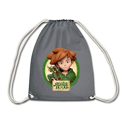 Spreadshirt Robin Hood Schlitzohr Von Sherwood Lächelnd Turnbeutel, Grau