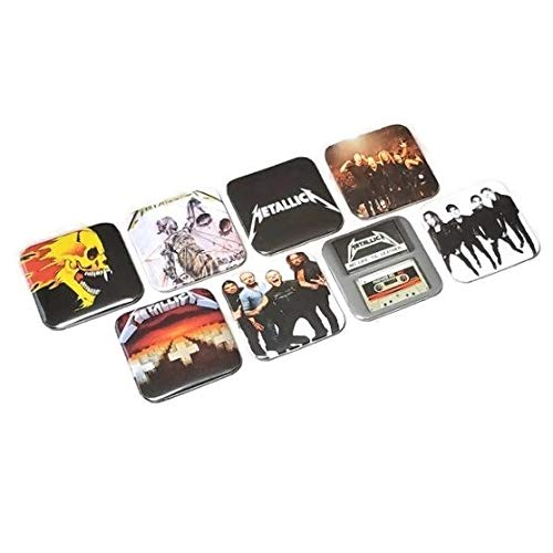 Metallica Flaming Skull Band Magnet Collection Cassette Tapes Band Master Of Puppets Album Logo Metal Music Fan Birthday Gifts
