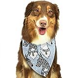 Beauty-Design - Pañuelo para Perro, diseño de Bandana de Gran danés, con Lunares, pañuelos, Bufandas Triangulares, Accesorios para Perros pequeños y Grandes y Otros Animales