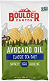 CRUNCHY, KETTLE COOKED – Boulder Canyon Kettle Cooked Potato Chips are thickly sliced potatoes that are slowly kettle cooked in small batches in 100% avocado oil. Made with simple ingredients and shipped directly from the manufacturer to ensure fresh...