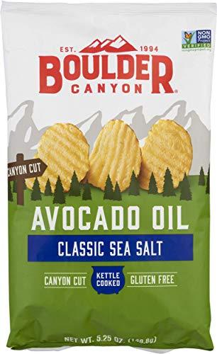 Boulder Canyon, Chips Potato Avocado Oil Sea, 5.25 Ounce