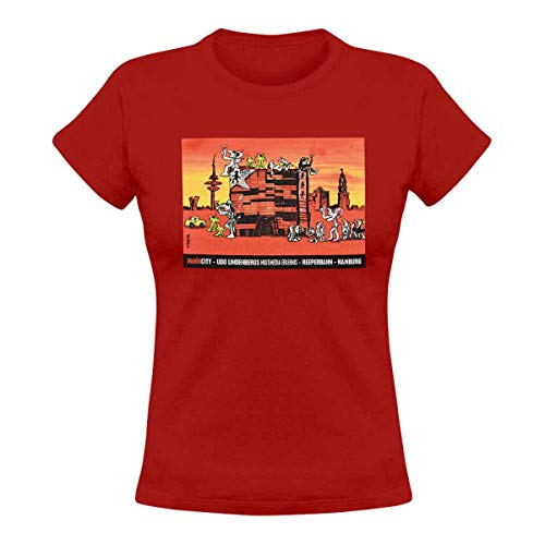 Panik City - UDO Lindenberg T-Shirt Ladies rot Gr. M
