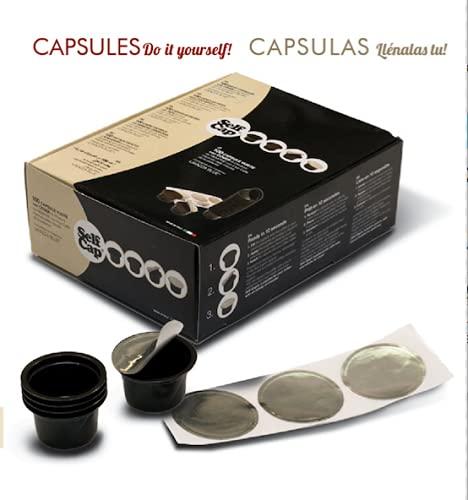 100 Capsule ricaricabili, Self Cap per Lavazza Blue