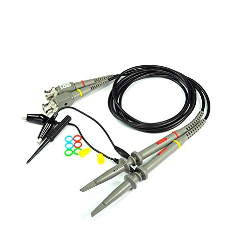 YZLP osciloscopio Sonda de osciloscopio analógico Digital Sonda de Prueba Universal Sonda X10 Accesorios for Instrumentos 20MHZ 40MHZ 60MHZ 100MHZ (Size : 100MHZ)