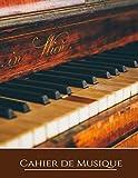 Cahier de musique: Carnet de partitions 13 portées par page pour composer - 100 pages - Grand format - Couverture souple