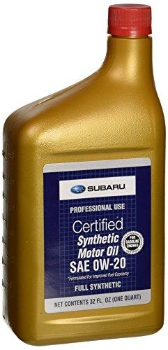 Genuine Subaru SOA427V1310 Oil - 0W20 Synthetic, 1 Quart Bottle, 1 Pack