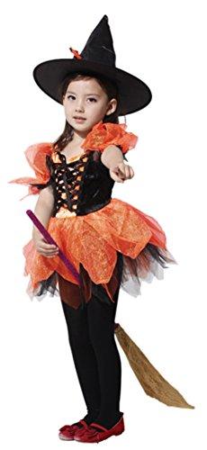 La Vogue Déguisement Halloween Enfant Fille Party Théâtre Costume Spectacle Cosplay Sorcièrè 4-6ans