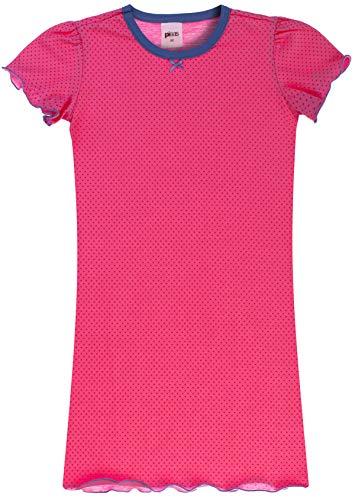 PLEAS Mädchen Nachthemd Ökotex Standard 100-3/4 Länge mit kurzem Arm (rosa, 116)