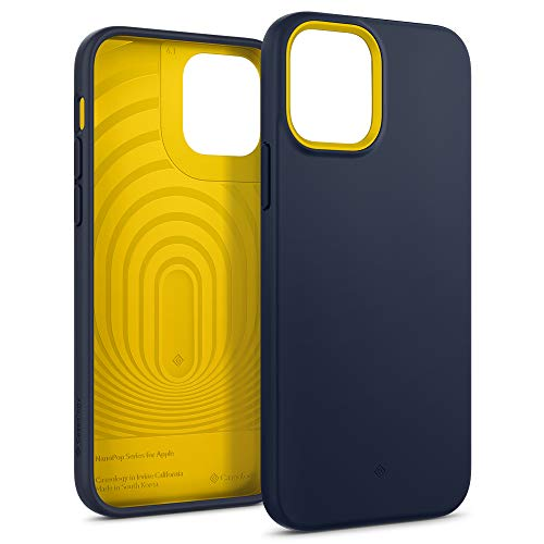 Caseology Nano Pop Hülle Kompatibel mit iPhone 12 Pro Kompatibel mit iPhone 12 - Navy