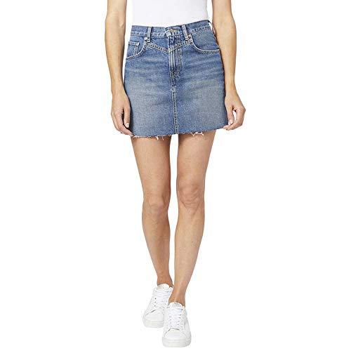 Pepe Jeans -Falda Vaquera PL900877HD3 000 Denim Rachel Skirt- Falda para Mujer/Chica
