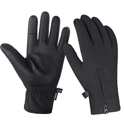 Unigear Winter Gloves Waterproof Outdoor Touch Screen Gloves for Running, Walking, Cycling, Ridding and Driving for Men & Women (Black, X-Large)