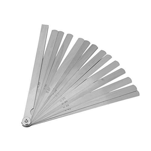 Calibrador de espesores de 200 mm, calibre de separación cónica de soldadura, regla de calibre de espesores de acero inoxidable, herramienta de inspección del orificio de la regla de profundidad, herr